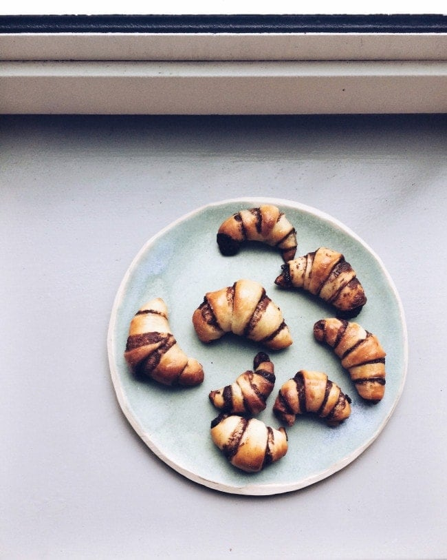 Chocolate Challah Rugelach
