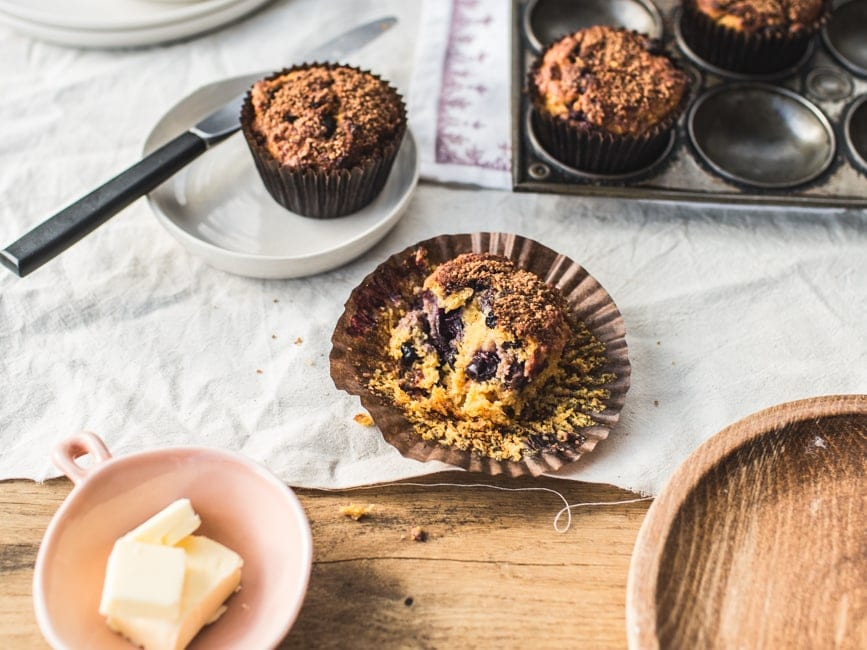 Blueberry-Carrot Muffins (GF, refined sugar-free)-12