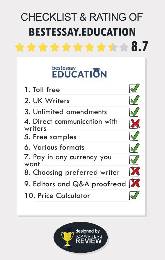 BestEssayEducation discounts, writers and review in full