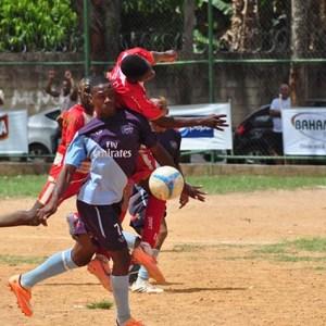 No jogo da rodada,  o América, do bairro, Progresso  bateu Arsenal Mundo Novo por 2 a 0 (foto: site Bahamas - hotsite da competição)