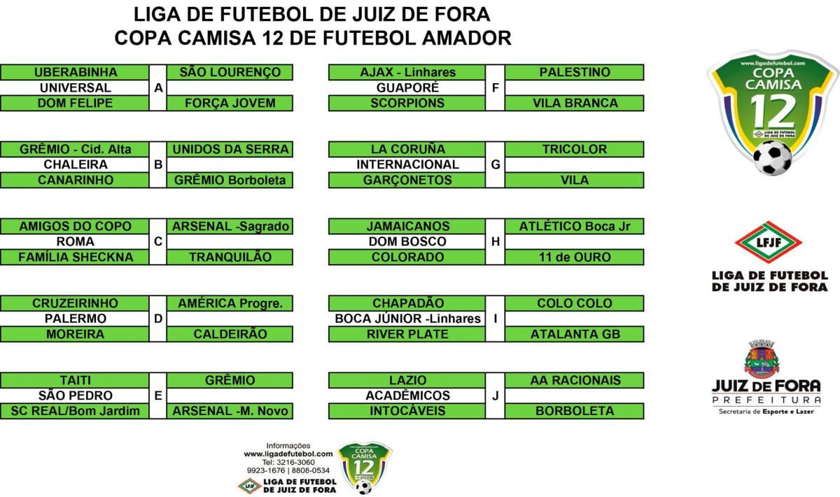 Copa Camisa 12 de Futebol Amador: veja tabela atualizada