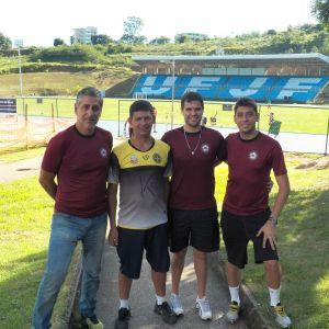 Membros do Uberabinha/UFJF, Marcelo Matta (esq), Dudu, Alex Nascif e Guilherme Acácio