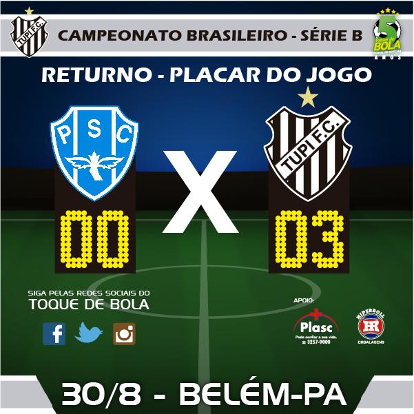 Tupi joga bem, vence a primeira fora de casa e volta a golear o Paysandu, dando novas esperanças aos torcedores