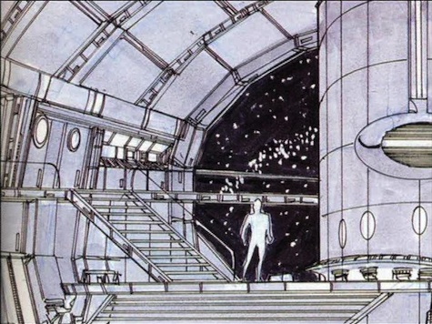 Early DS9 concept art. Or is it?