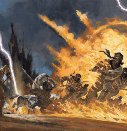 Greg Manchess's Lord of Chaos ebook cover detail