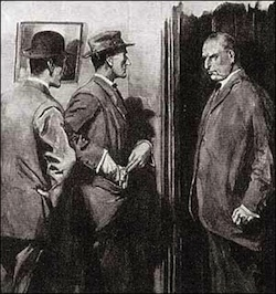 Holmes and Watson confront Holy Peter