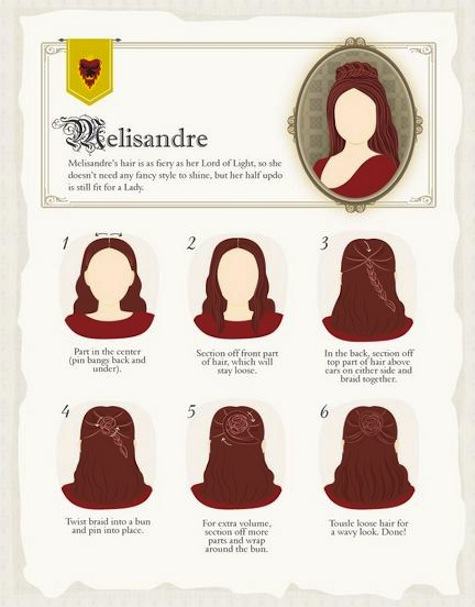 Game of Thrones hairstyles how-to Melisandre