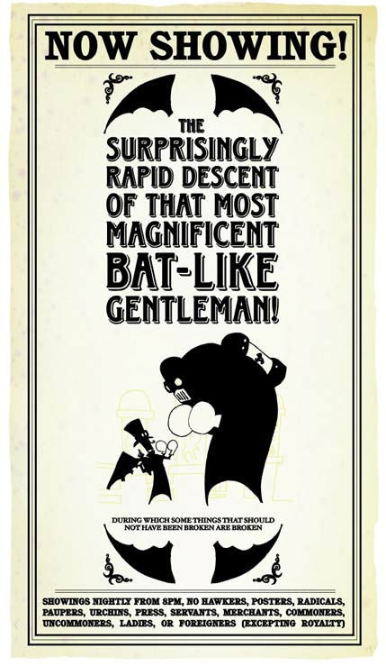 The Surprisingly Rapid Descent of That Most Magnificent Bat-Like Gentleman! by Geof Banyard