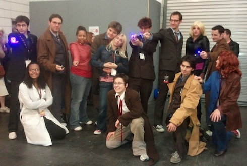 Ten and companions. And check out that inspired Doctor-Donna on the far right!
