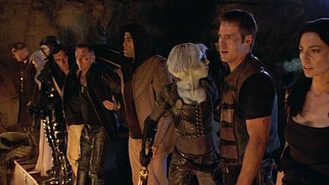 Farscape: The Peacekeeper Wars, Aeryn, Braca, Scorpius, Stark, Crichton, Chiana