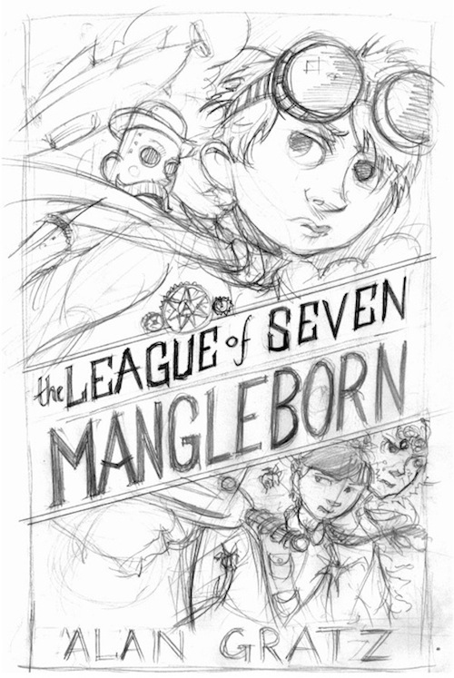 The League of Seven Alan Gratz Brett Helquist cover sketch