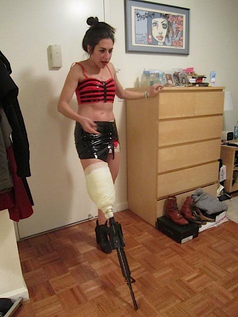 How To Make A Machine Gun Leg by Stacey Brook