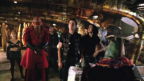 Farscape: The Peacekeeper Wars, Crichton, Aeryn, D'Argo, Stark, Chiana, Rygel, Sikozu