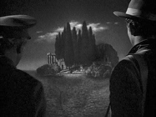The Isle of the Dead: Boris Karloff and Marc Cramer.