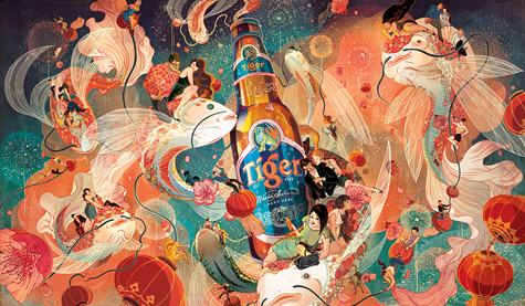 Victo Ngai A Tiger Beer Chinese New Year