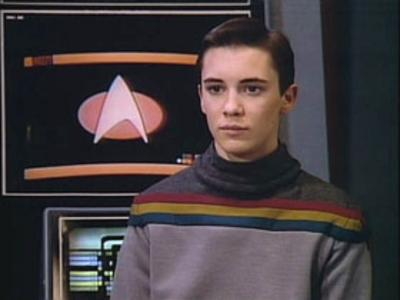 Wesley crusher rainbow sweater