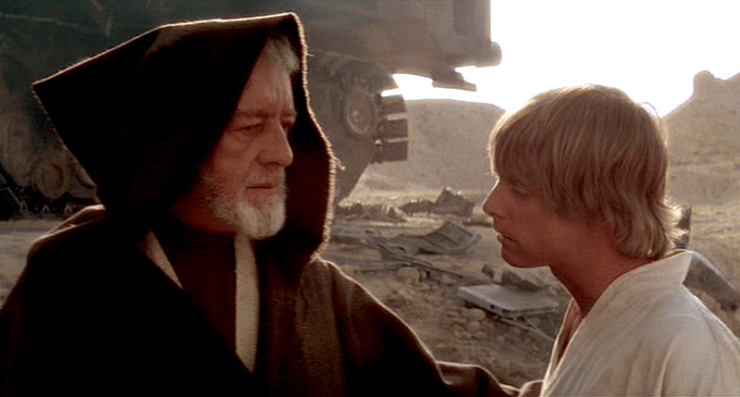Image result for luke agrees to help obi wan
