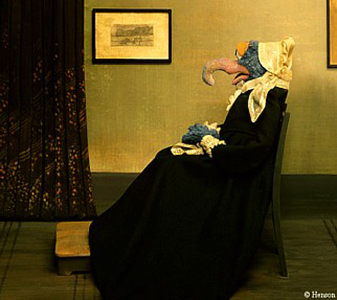 Historical art redone with science fiction figures