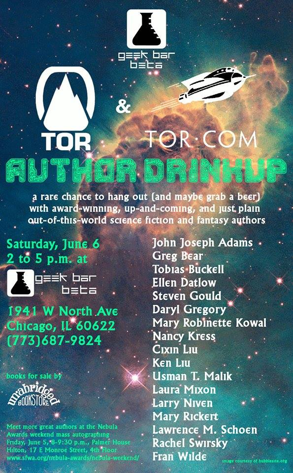 Tor Author Drinkup Geek Bar Beta Nebula Awards Weekend