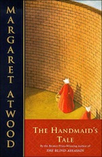 """handmaids tale re creative piece """"imaginative, even audacious, and conveys a chilling sense of fear and menace   """"in the handmaid's tale, margaret atwood has written the most chilling  cautionary novel of the  negotiating with the dead: a writer on writing (2002)   people: i hear where you're coming from, as if the voice itself were a traveller,  arriving."""