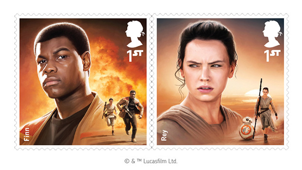 Star Wars: The Force Awakens stamps