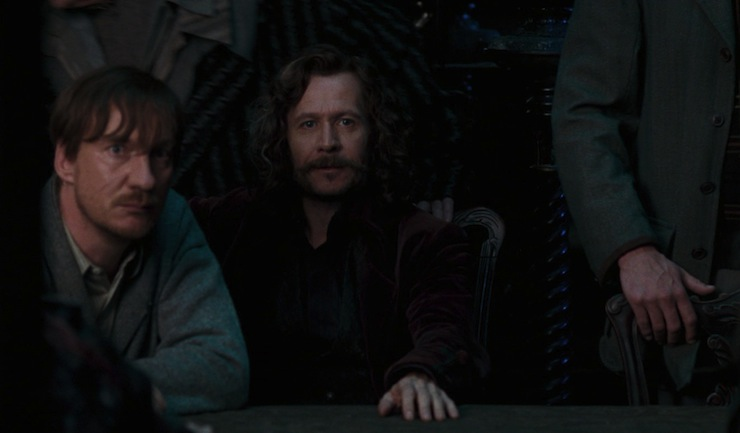 Remus is like OH NO WE GOT CAUGHT
