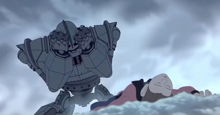 watching The Iron Giant for the first time crying