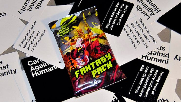 Cards Against Humanity fantasy pack Patrick Rothfuss Neil Gaiman