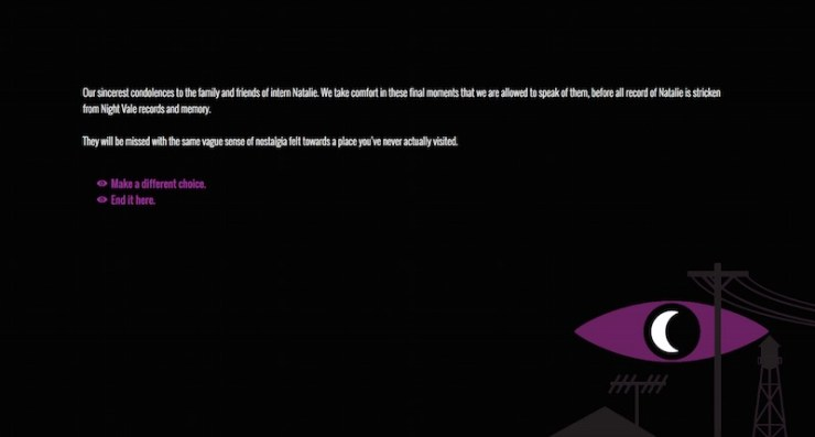 Welcome to Night Vale fan game Investigative Journalism Twine Astrid Dalmady