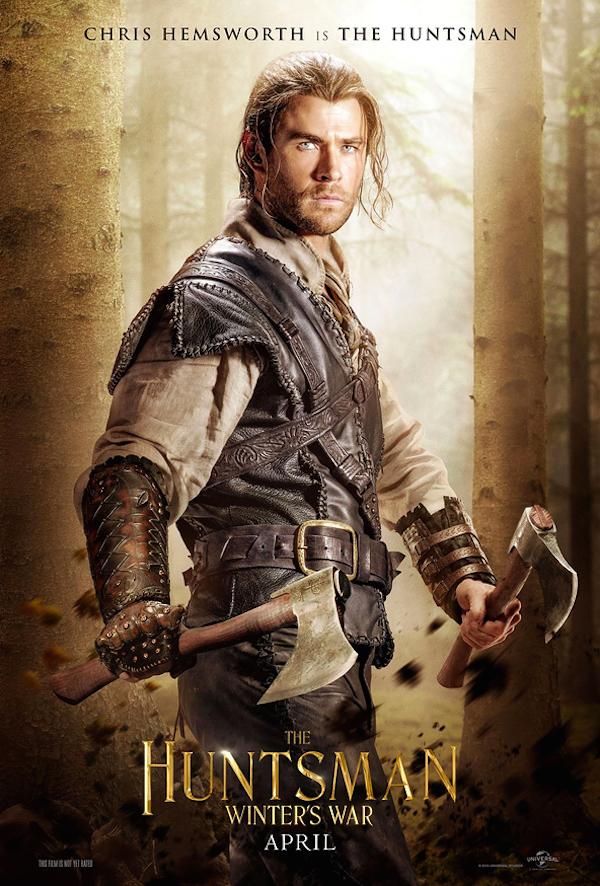 The Huntsman: Winter's War character posters teaser Snow White sequel Chris Hemsworth