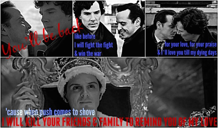 Hamilton mashups Sherlock Moriarty You'll Be Back