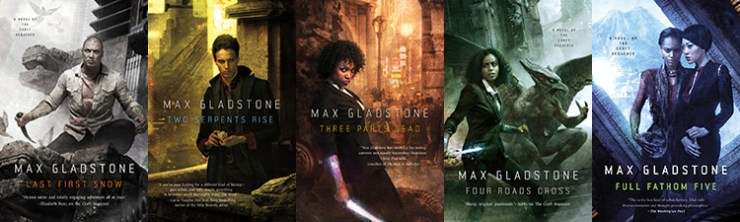 Max Gladstone Craft Sequence covers