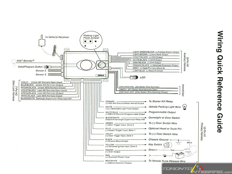 wiring diagram car alarm system