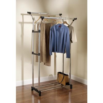 Rubbermaid Double Hang Garment Rack With Wheels Home