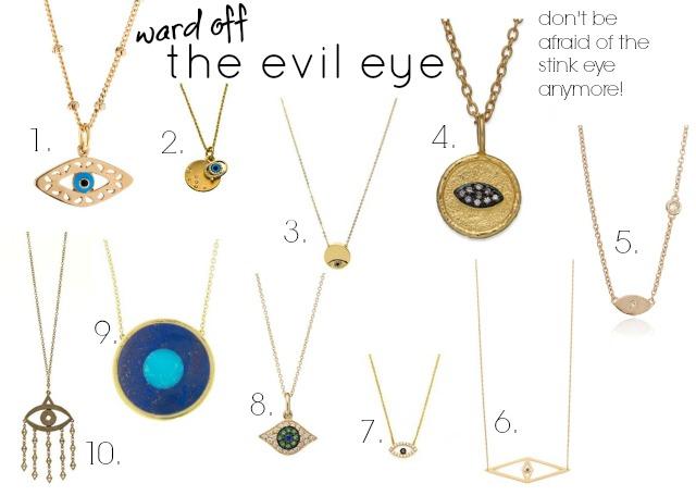 evil eye necklace, evil eye jewellery