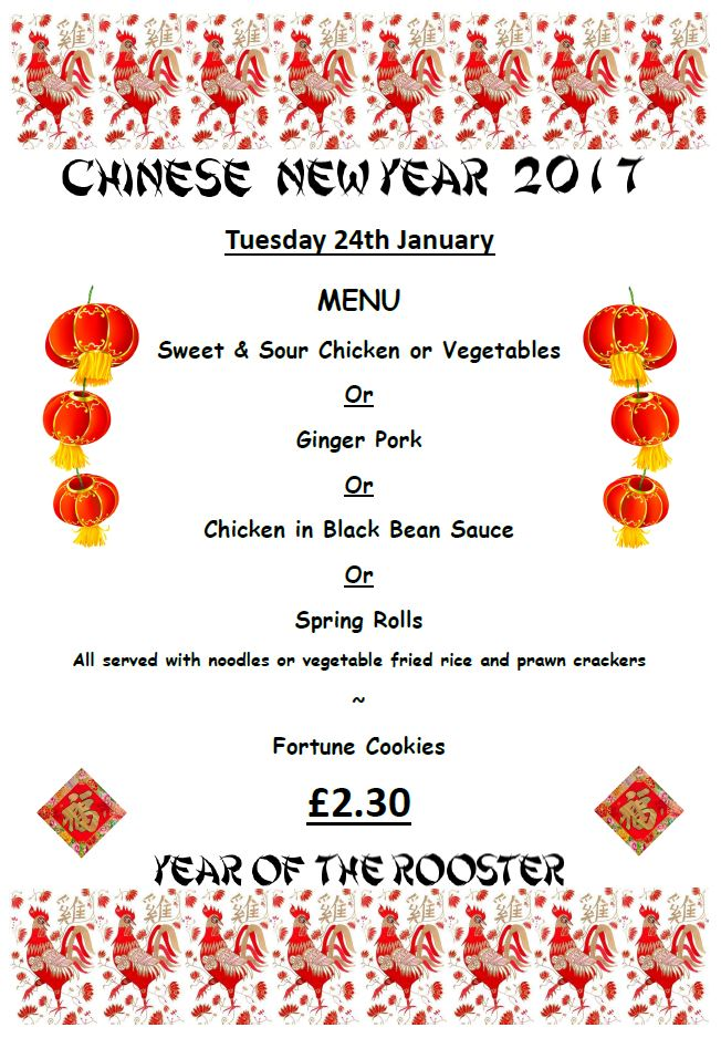 Chinese New Year Menu « Torpoint Community College