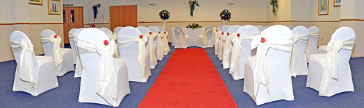 wedding ceremony at Riviera International Centre