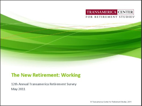 Working only solution for auto workers, Transamerica Center for - transamerica retirement solutions