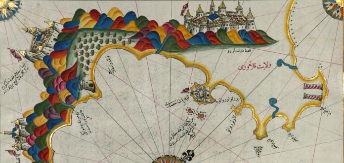 Piri Reis mappa golfo di squillace, escursioni in Calabria