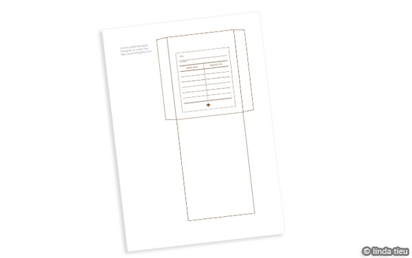 Free Printable Library Pocket Template - tortagialla - pocket template