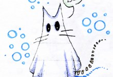 gatto fantasma illustrazione di tostoini