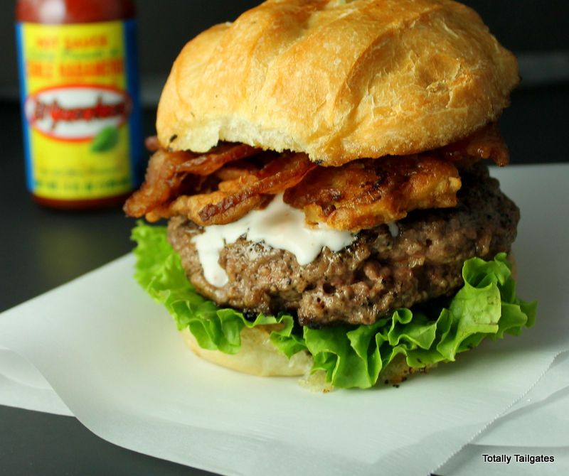 Hail Mary Habanero Hamburgers are easy to make for the Super Bowl or for tailgates!