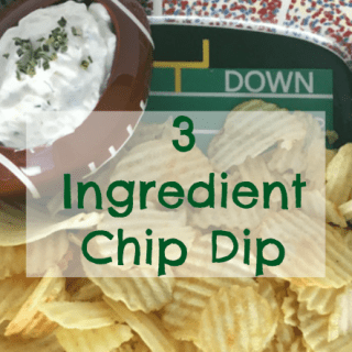 3 Ingredient Chip Dip is so easy for football parties!