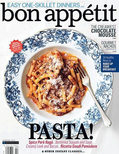 Bon Appetit is America's #1 food and entertaining magazine. Each issue is filled with delicious time-saving recipes, easy and elegant entertaining ideas, and more! Today's Bon Appetit .