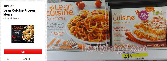 Target new triple stack on lean cuisine entrees for Average price of lean cuisine