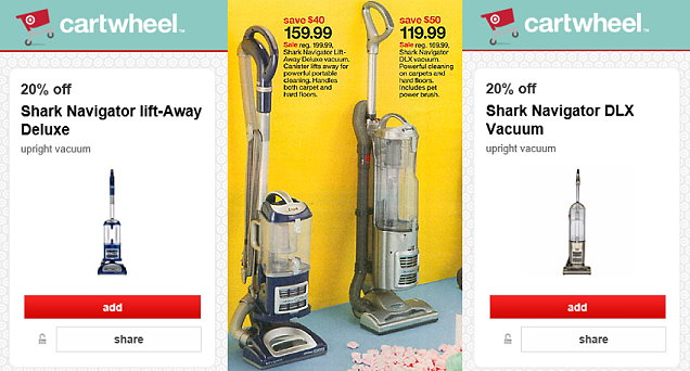 if you are looking for a new vacuum cleaner we have a couple new target cartwheel offers on shark plus a sale this week thru 822 to make for some nice