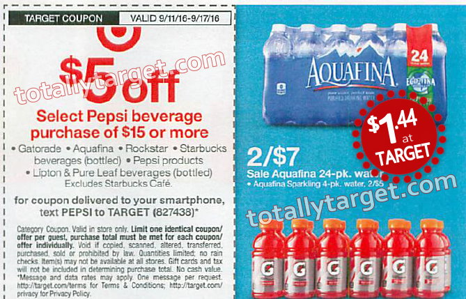 what markets should pepsi target for aquafina