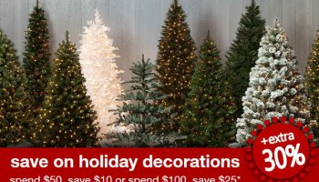 big savings on artificial christmas trees at target in stores online with stacked discounts - Discount Christmas Trees