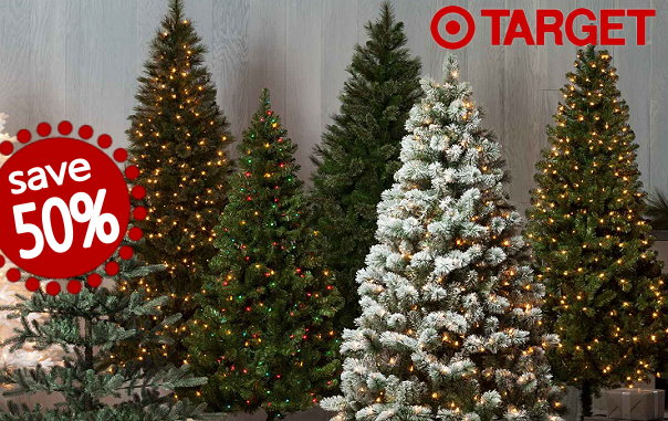 target christmas clearance in stores u0026 online 50 off all trees u0026 30 - Christmas Trees Clearance
