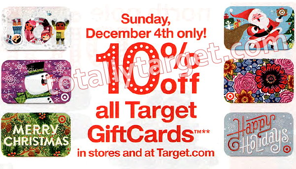 10% Off Target Gift Cards In Stores & Online On 12/3 ...